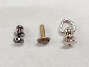 ギボシ留め金具のオーダー製作~頭に文字を刻印したギボシ金具~