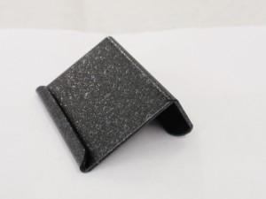 鉄製プライスプレートを黒いレザー調に塗装して製作