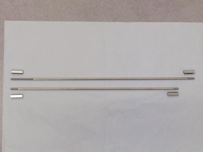 錆びにくいSUS(ステンレス鋼)で丸棒と片蝶番を製作