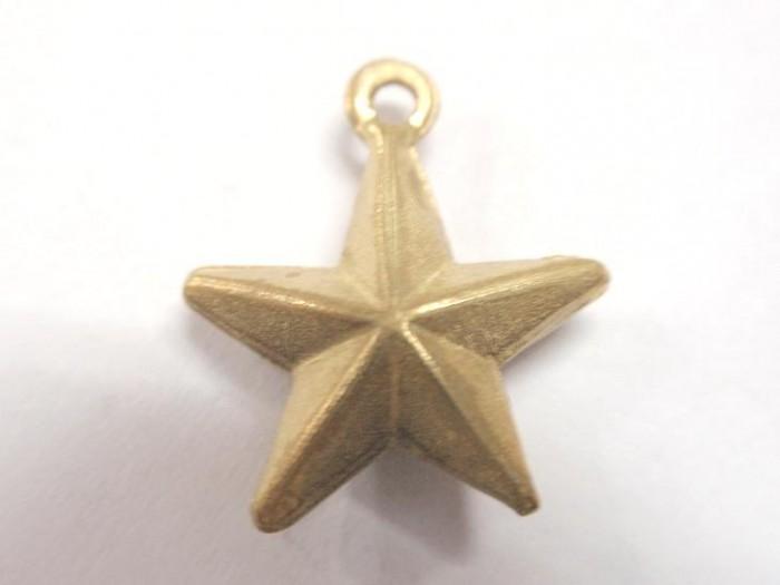 アクセサリー用に、星型立体チャームの製作