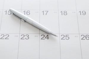 カレンダー ボールペン イメージ