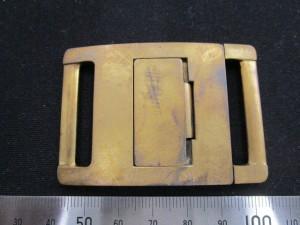 真鍮でできたバックル
